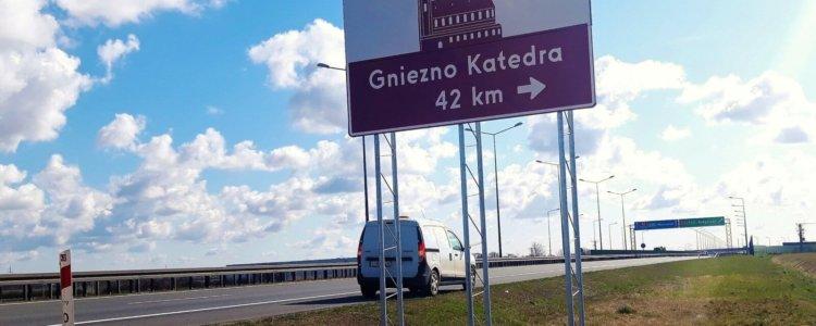 Naprawa znaków na autostradzie A2